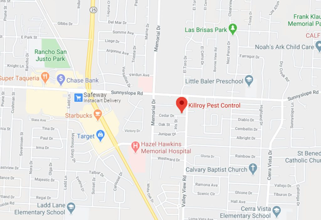 Map of Killroy Pest Control in Hollister, CA