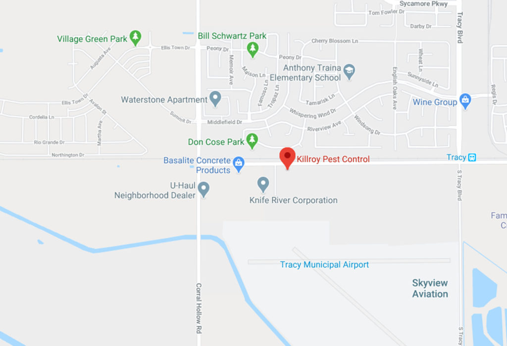 Map of Killroy Pest Control in Tracy CA